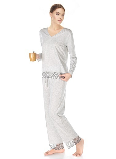 Doremi Romance Pijama Takım Gri